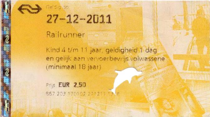 kaartje met dolfijn