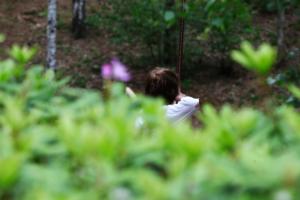 Boogschieten in bos